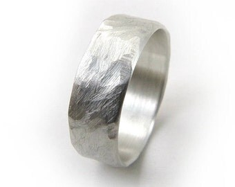Hammered Silver Ring, Sterling Silver Ring, Silver Ring Band, Silver Ring Men, Silver Ring Women, Silver Ring Band, Ecofriendly Ring