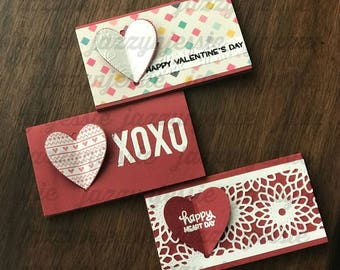 Set of 3 Handmade Valentine's Day Cards