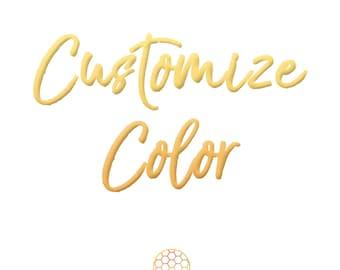 Customize Color - Change Color