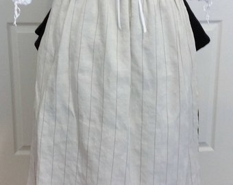 18th century Cream and Tan Striped Linen Apron