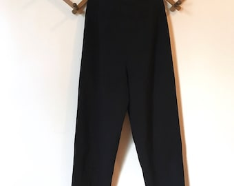 Vintage 90s High Waisted Black Trouser Work Pants Size 6