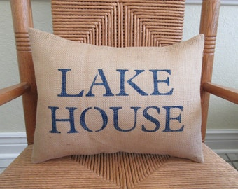 Lake House Pillow Etsy