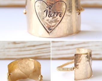 Valentines Love Ring/Personalized Rings Handcrafted / Bridesmaid Gift Ideas/ Square Rings/ Summer Jewelry Ring Trends/Bridesmaid Ring