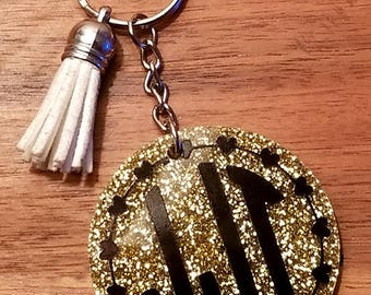 Gold Glitter Keychain