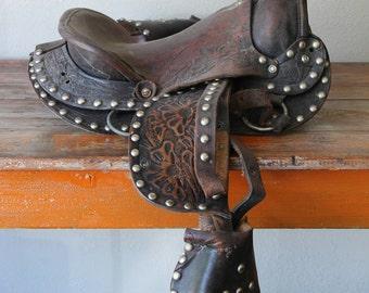 Vintage Child's Pony Saddle