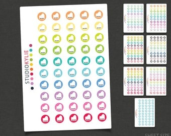 Piano Icons - Planner Stickers -Repositionable Matte Vinyl to suit all planners