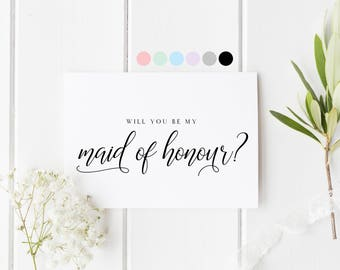 Will You Be My Maid Of Honour, Card For Maid Of Honour, Maid Of Honour Proposal Card, Maid Of Honour Request Card, Be My Maid Of Honour Card