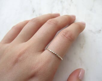 Sterling silver ring - lined //hammered ring, silver ring, hammered sterling silver,silver stackable ring, minimalist,simple ring, line ring