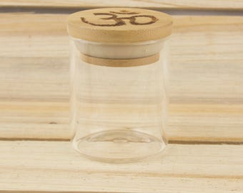 1/8 Oz. Om Bamboo Stash Jar