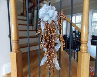 CHRISTMAS Staircase SWAG Christmas Decor Christmas Decorations Holiday Home  Decor Christmas Decor