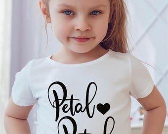 petal patrol shirt flower girl shirt gift for flower girl gifts for bridal party bridal party gifts toddler flower girl flower girl baby