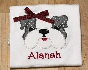 Girl Bulldog Shirt 1