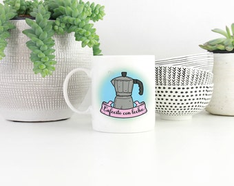 Cafe con leche, Cafecito, Cafe, Cafe Cubano, Espresso, Coffee mug, Cute Mug, Girly Mug, Gift, Coffee Lover, Gift,