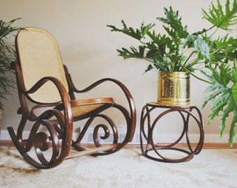 Bentwood Rocker Bentwood Chair Mid Century Modern Boho Decor Bentwood  Furniture Boho Thonet Bentwood Chair Thonet