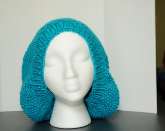Turquoise Seed Stitch Hat