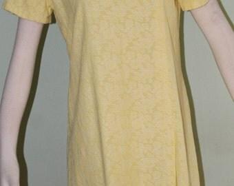 """33"""" waist, Petite Mod style dress, lemony yellow!"""