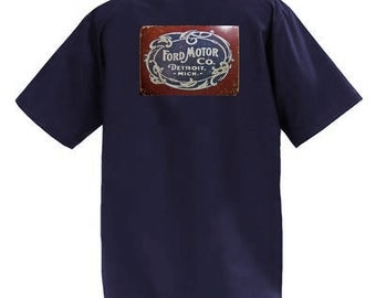 Ford Motor Company -  Short Sleeve Graphic Shop Work Shirt