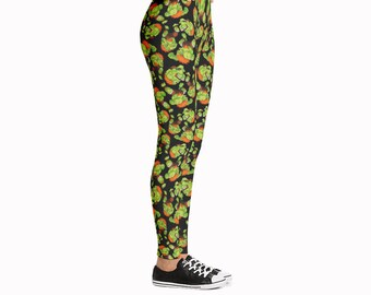 Blanka Street Fighter Leggings / Video Game Leggings / Geeky Leggings / Comicon Leggings / Cosplay Leggings / Game Clothes / Retro  Leggings