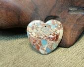 Reorganization Sale 30% off ~ Colorful Red Snakeskin Jasper Heart