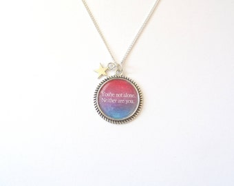 Reylo Star Wars Quote Necklace. You're not alone. Neither are you.
