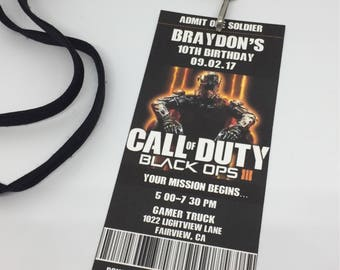 Call of Duty Birthday Invitations - Xbox/PS3 Birthday Party - Call of Duty Printable Invitation - Black Ops Invitations - Printable PDF File