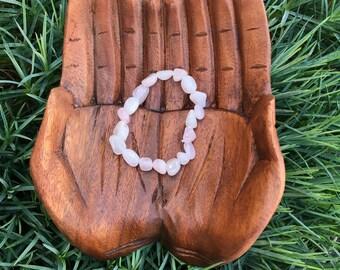 Rose Quartz Tumbled stone bracelet