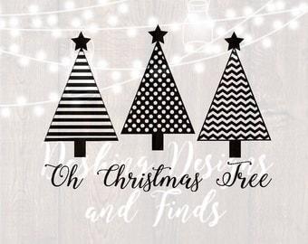 DIGITAL DOWNLOAD oh christmas tree svg - christmas svg - merry christmas svg - christmas carol svg - silhouette - cricut - cut files