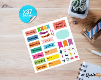 Removeable Planner Stickers UK