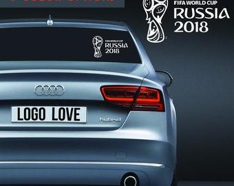Russia World Cup 2018 Vinyl Decal | Soccer | Logo | Sticker