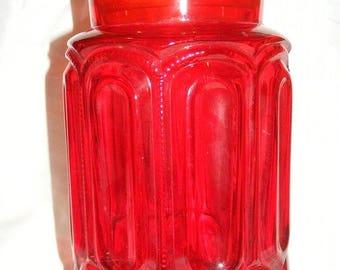 20% Sale Vintage Amberine Large  Canister