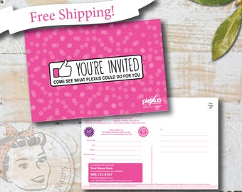 Plexus Event Invitation Postcards - Thumbs Up! - Free Shipping