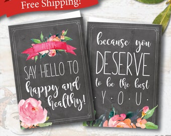 plexus, plexus card, plexus swag, Watercolor Bouquet, plexus notecards, plexus team gifts, with envelopes