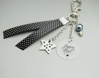 "Star ""Merry Christmas"" - merry christmas - nanny Grandma godmother teacher gift keychain"