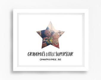 Personalised Grandmother Gift, Grandma Christmas Gift, Nana Gift, Grandma's First Christmas, Photo Print, Unique Christmas, From Grandchild