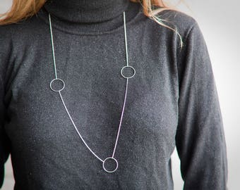 Necklace with round sterling silver