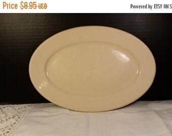 "On SALE Sterling Restaurant Ware China Oval Plate Vintage Ivory Beige Diner Ware Dish Platter Vitrified China 12"" Plate Cafe Diner Plate Pla"