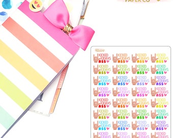 Kicked Todays Ass Planner Stickers