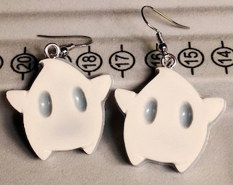 Luma Earrings - Star Earrings - Blue and White Earrings - Gamer Earrings - Mario Earrings