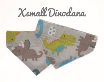 Xsmall only, Dinosaur Dog Bandana, Over The Collar Dog Bandana