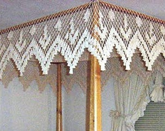 King Size Fishnet Canopy - Large Scallop Design - & Bed canopy crochet | Etsy