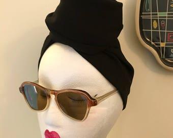 Vintage 1940s 1950s Brown Celluloid Sunglasses