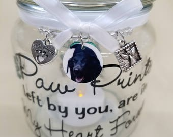 Pet Memorial Candle Holder, pet memorial, dog memorial, cat memorial, cat lover, dog lover, dog, cat