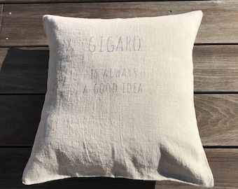 gigaro washed linen pillow cover