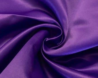 "Purple Matte Satin (Peau de Soie) Duchess Fabric Bridesmaid Dress 60"" Wide Sold BTY"