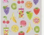 Fruit Stickers - Masking Tape Stickers - Cherie Couleur Stickers - Reference A6479