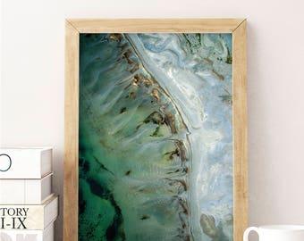 Abstract Photo, Ocean Photo, Printable Art, Nature Print, Ariel Photo, Abstract Print, Downloadable, Modern Wall Art, Wall Decor, Poster Art
