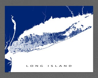 Long Island Map Print, Long Island Art, Long Island New York State, USA Map Prints