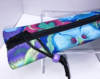 Slim Pencil Case, ZAZZY Colors Flat Pencil Pouch, Skinny Pencil Case, Slim Zipper Pouch, Back to School