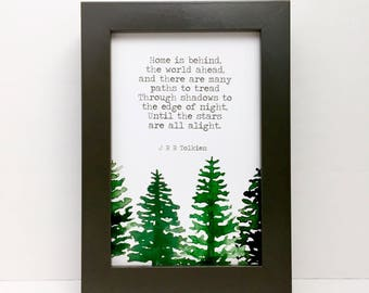 Lord of the Rings, Home is behind the world ahead, Tolkien, Hobbit, Gandalf, forest, trees, green,