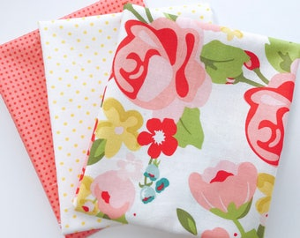 One Yard Bundle Hello Gorgeous by My Minds Eye For Riley Blake Designs - 3 Fabrics